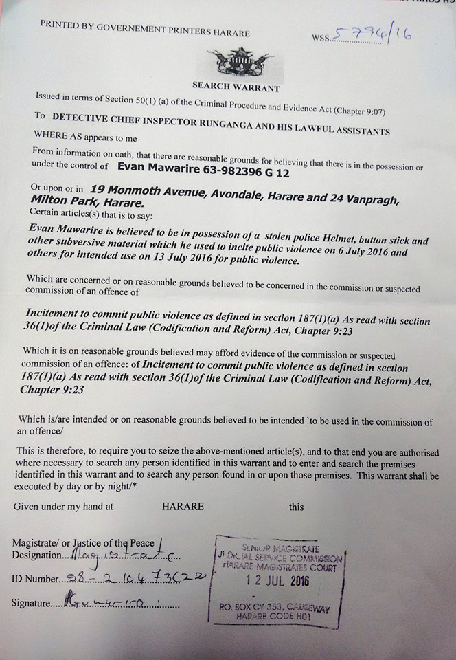 Evan mawarire search warrant 12 July 2016.jpg
