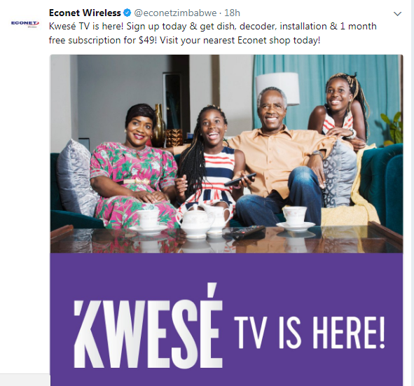 Econet Wireless Kwese Twitter.PNG