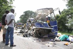 Wreckage of the ZUPCO bus after it collided with a Unifreight bus on 18 January 2015.jpg