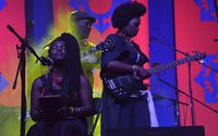 Busi Ncube and Edith Weutonga - HIFA 2013