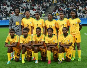 Zimbabwe football team 2016 Olympics women.jpg