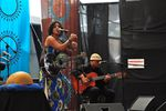 Maia von Lekow and her backing guitarist. She also played her own guitar - HIFA 2012